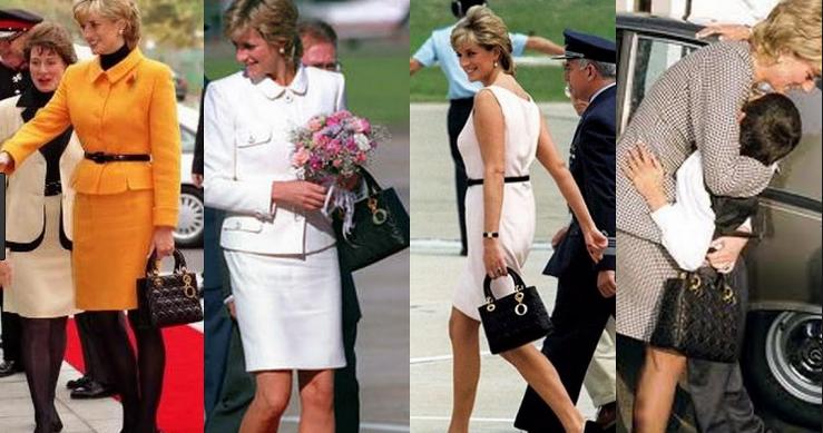 黛安娜王妃與LADY DIOR如影隨形,每款型號她都會選購,也因此LADY DIOR,又有黛妃包之美名。