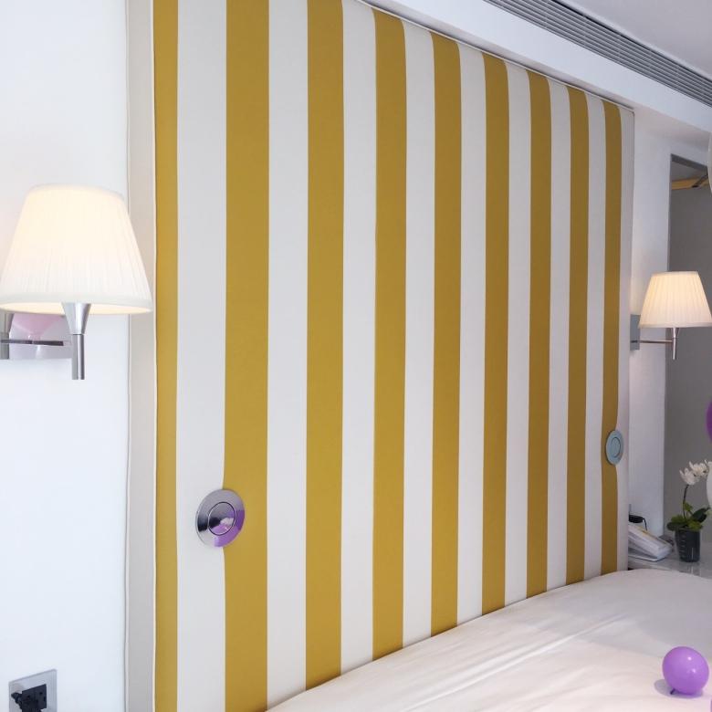 S Hotel除了白色,也用運用了大量的黃,至於顏色的選擇,史塔克認為,無需解釋顏色,就是剛剛好適合,就用了。