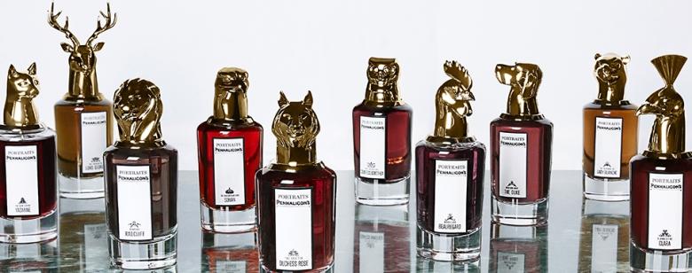 Penhaligon's 肖像Portrait系列,每瓶香水都有其角色,以英國上流社會為故事背景,圖取自官網。